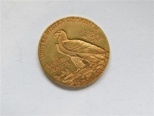 1927 2.5 dollar gold coin