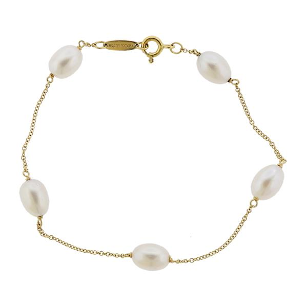 Tiffany Amp Co Peretti 18k Gold Pearls By The Yard Bracelet