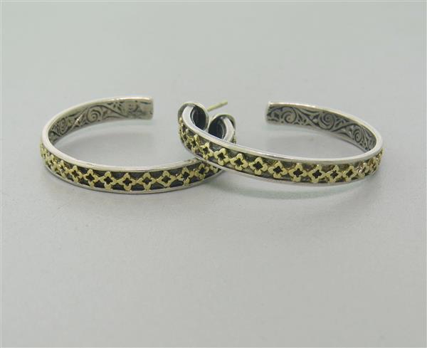 Konstantino Sterling 18k Gold Hoop Earrings